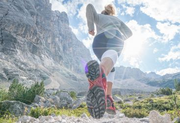 Runner's High in the Dolomites
